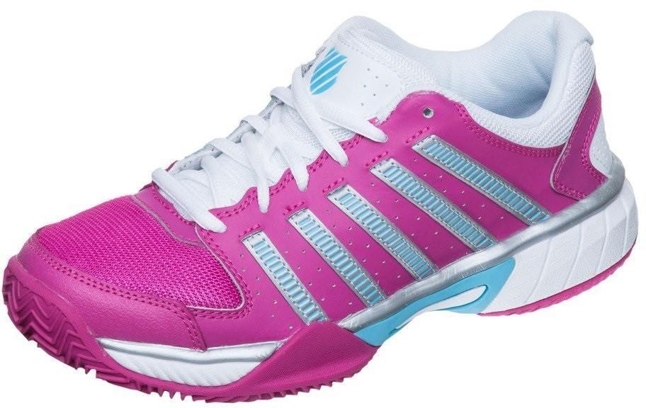 Теннисные кроссовки женские K-Swiss Express ГРУНТ very berry/white/bachelor button