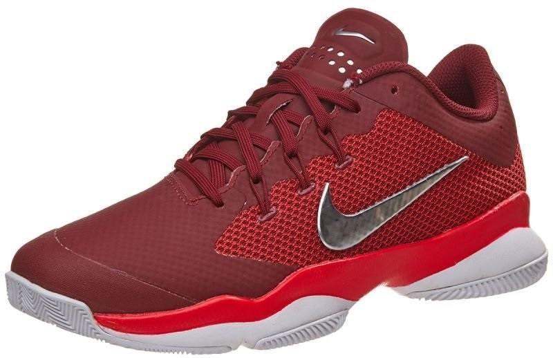 Теннисные кроссовки женские Nike Air Zoom Ultra team red/metallic silver