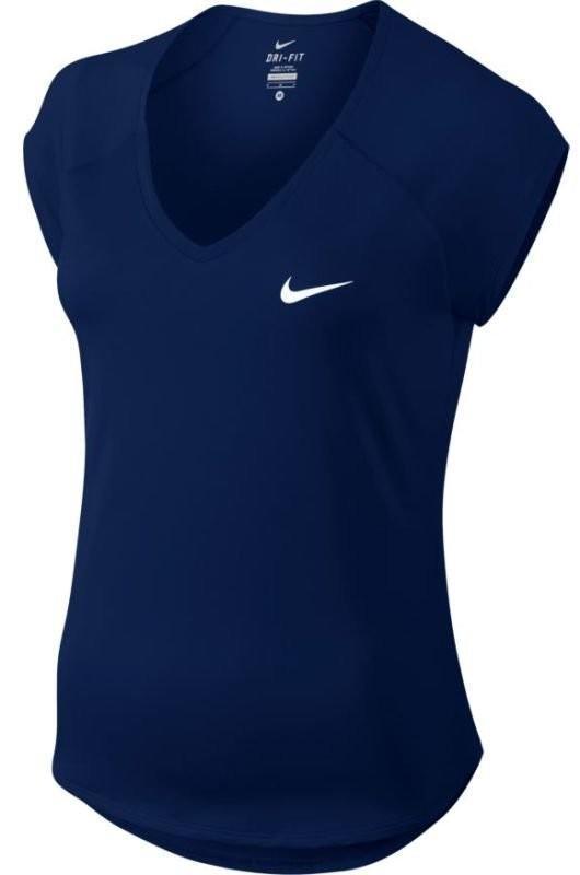 Теннисная футболка женская Nike Court Pure Top blue void/white