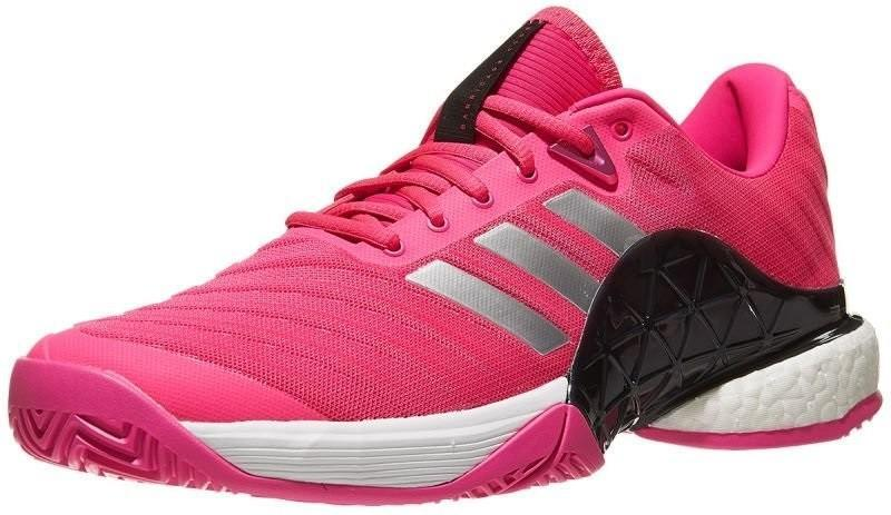 Теннисные кроссовки мужские Adidas Barricade 2018 Boost shock pink/matte silver/legend ink