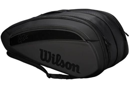 Теннисная сумка Wilson Federer DNA 12 Pk Bag 2019 black/black