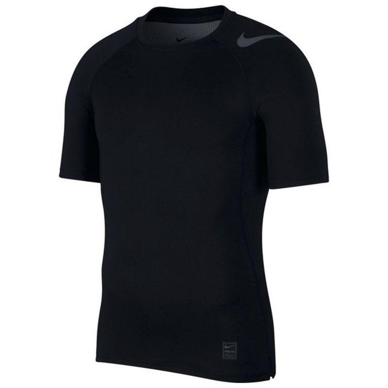 Термофутболка мужская Nike Pro HyperCool Top SS Fitted GFX black/black/dark grey