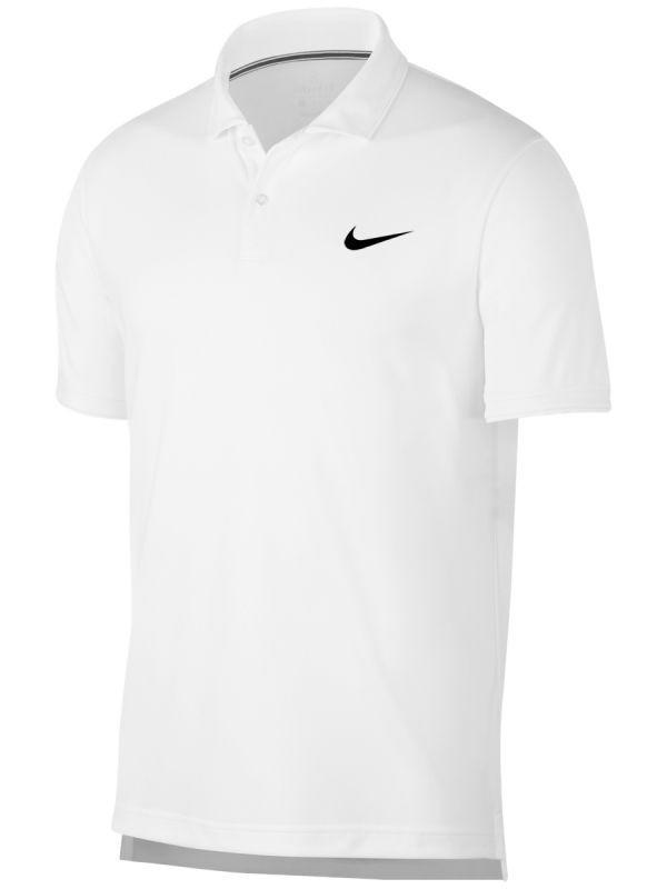 68de68d5ba345 Теннисная футболка мужская Nike Court Dry Team Polo white | TennisMaster
