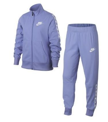 9228d645 Спортивный костюм детский Nike Girl's NSW Track Suit Tricot violet/white  KIDS