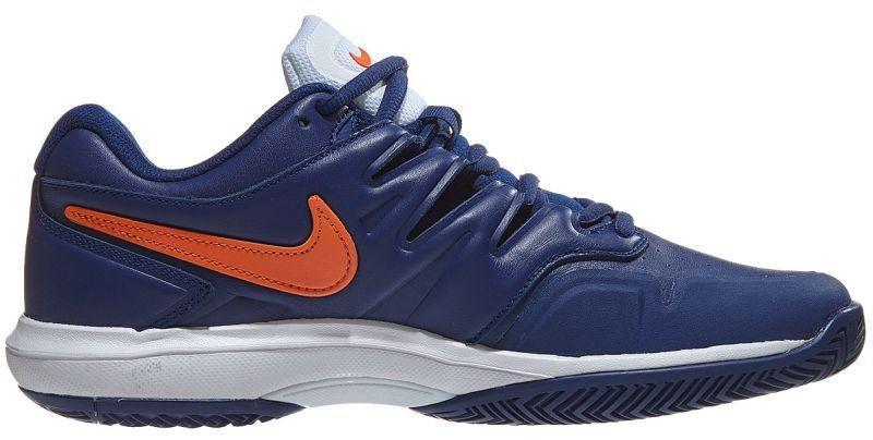 Тенісні кросівки чоловічі Nike Air Zoom Prestige Leather HC blue void/orange blaze/white