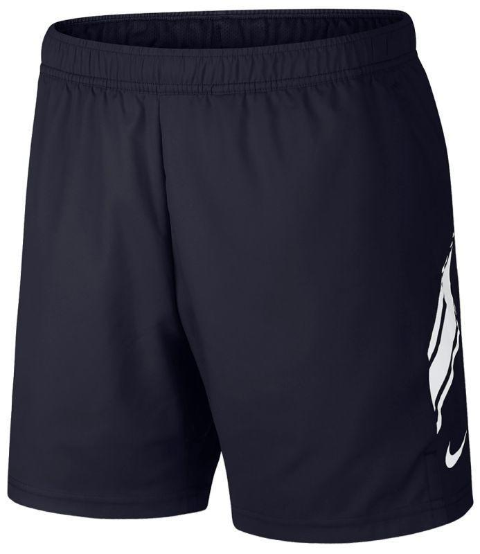 Теннисные шорты мужские Nike Court Dry 7in Short obsidian/white
