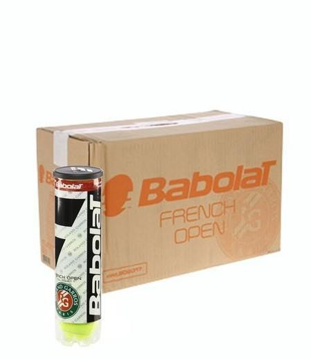 Мячи для тенниса Babolat French Open All Court 4-Ball 18 банок