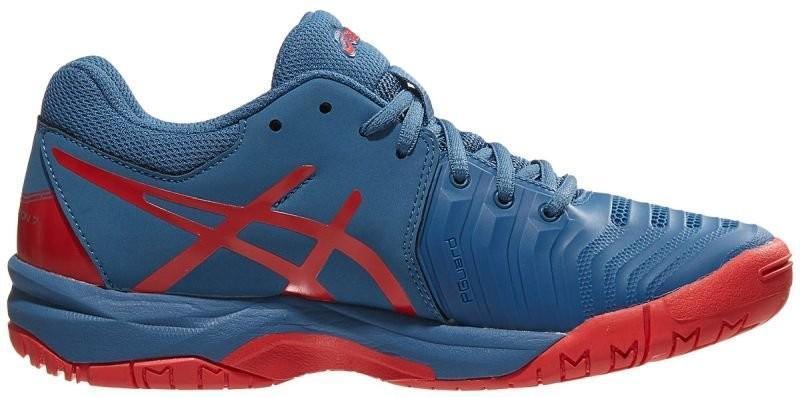 Детские теннисные кроссовки Asics Gel-Resolution 7 GS azure/red alert