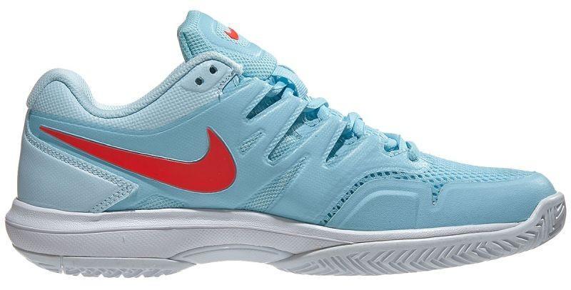 Теннисные кроссовки женские Nike WMNS Air Zoom Prestige still blue/bright crimson/topaz mist