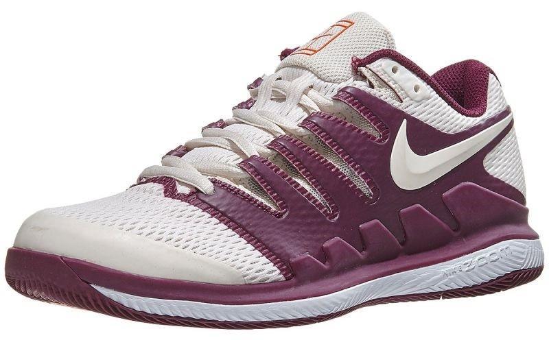 Теннисные кроссовки женские Nike WMNS Air Zoom Vapor 10 HC bordeaux/phantom white/orange blaze