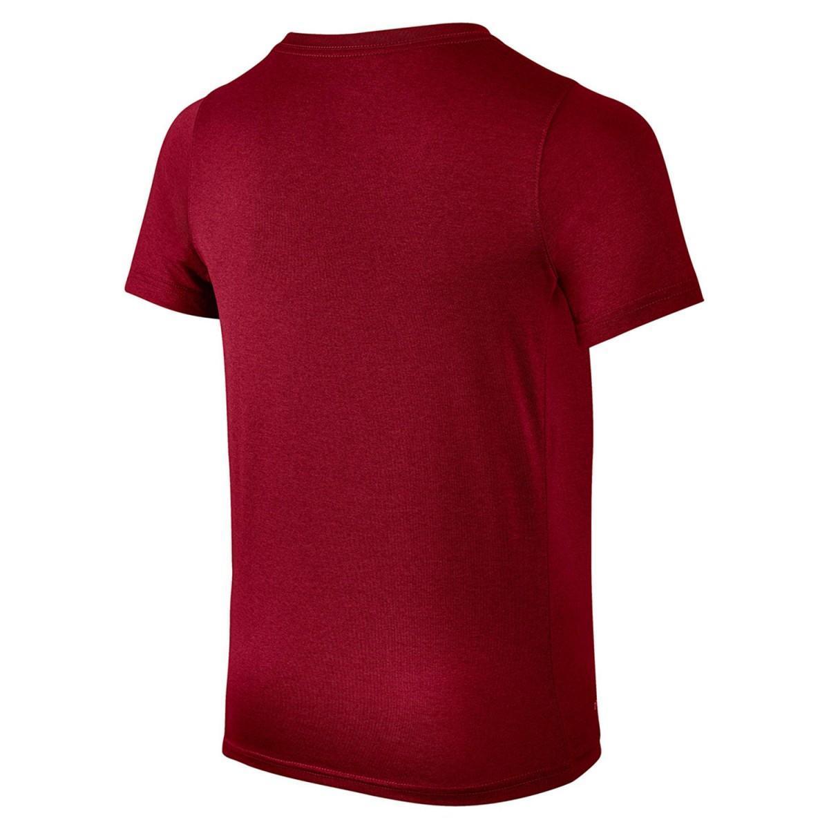 Теннисная футболка детская Nike Dry Tee SS Swoosh Solid dark red