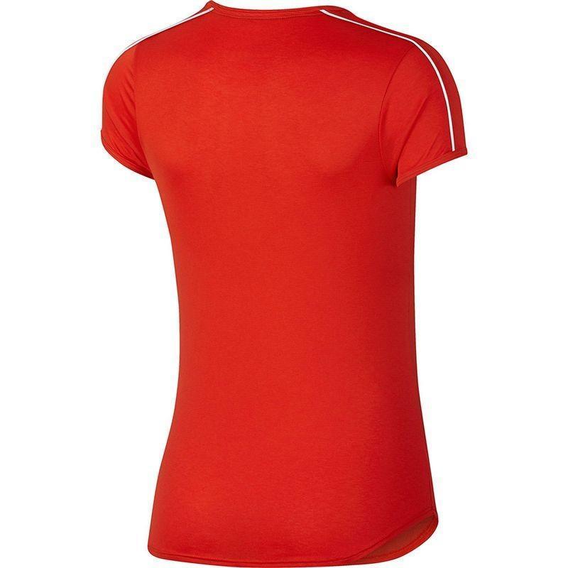 Теннисная футболка женская Nike Court Dry Top habanero red/white