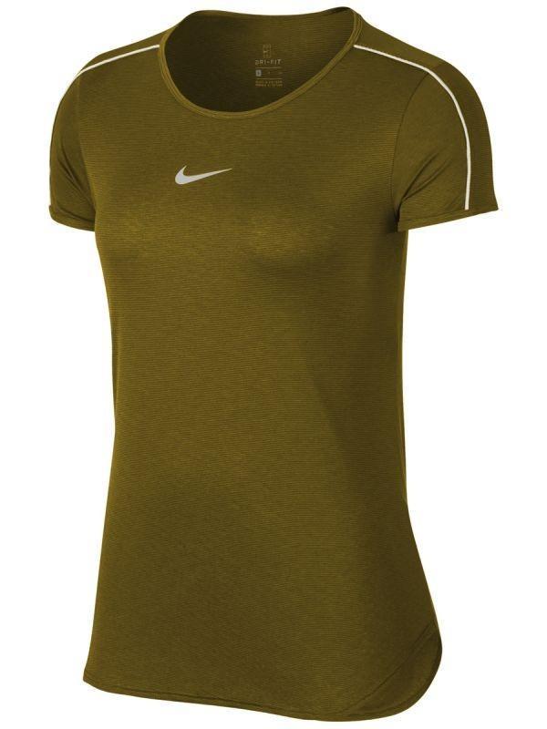 Теннисная футболка женская Nike Court Dry Top peat moss/white