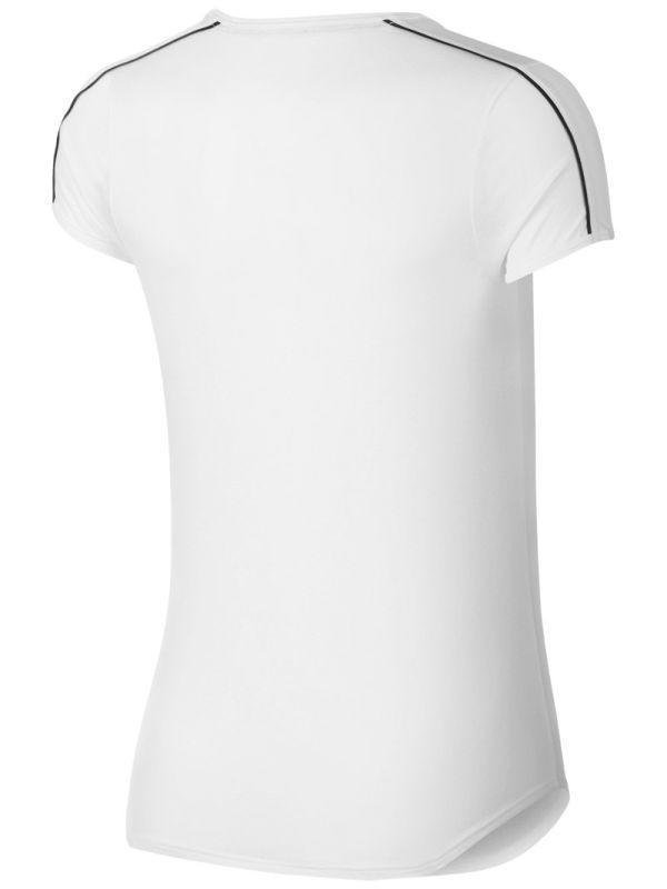 Теннисная футболка женская Nike Court Dry Top white/black