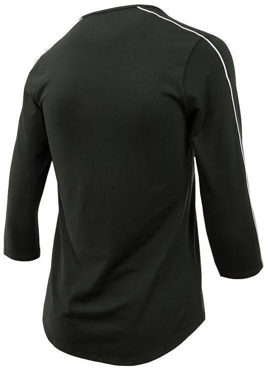 Теннисная футболка женская Nike Court Women 3-4 Sleeve Top black/white