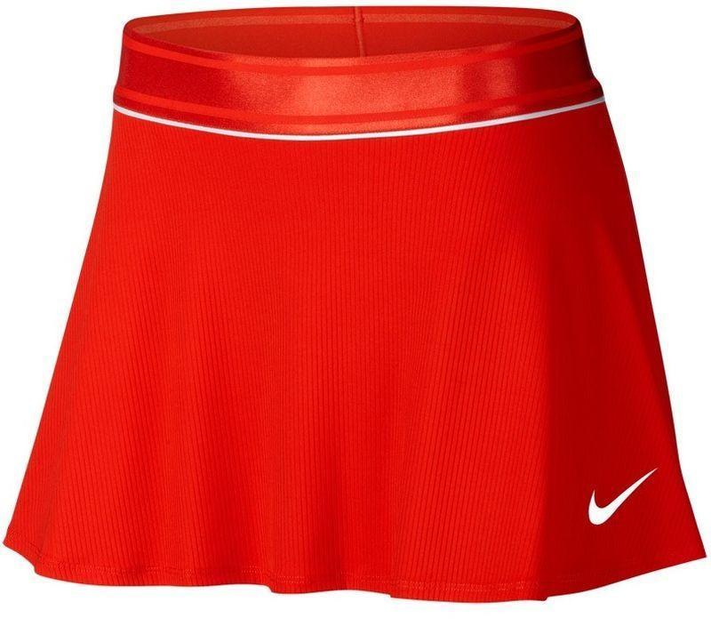 Теннисная юбка женская Nike Court Dry Flounce Skirt habanero red/white