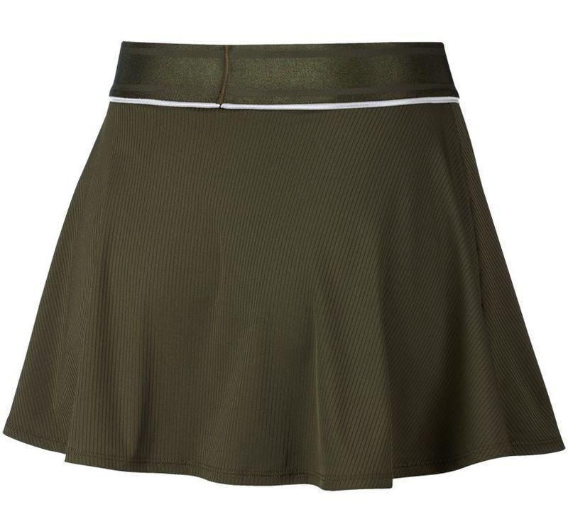 Теннисная юбка женская Nike Court Dry Flounce Skirt olive canvas/white