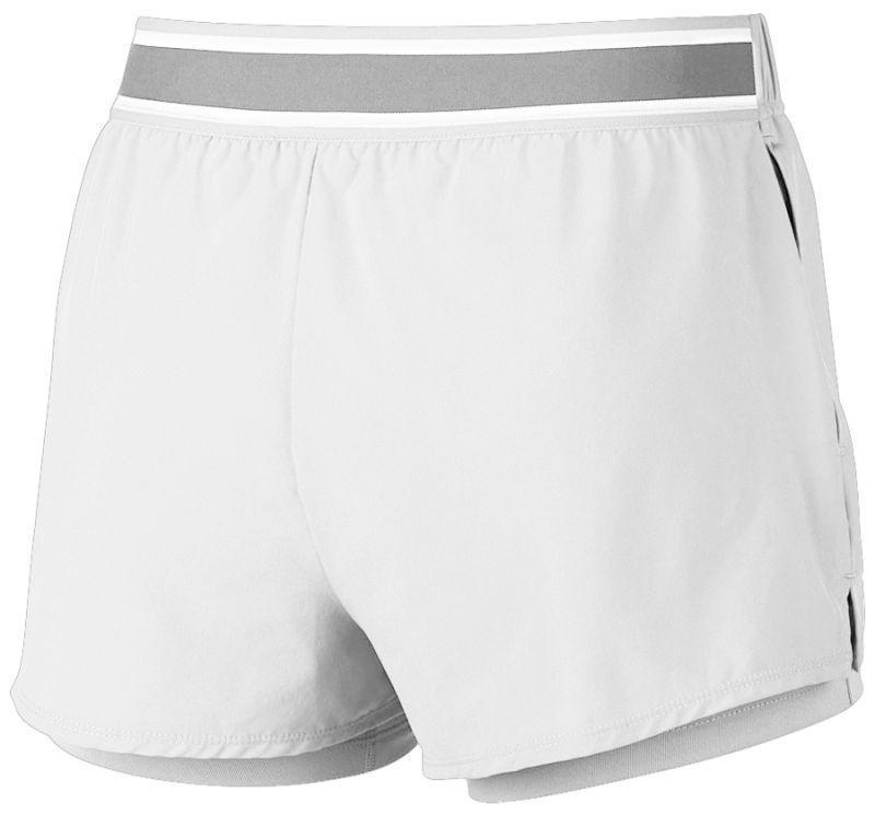 Теннисные шорты женские Nike Court Flex Short white/black