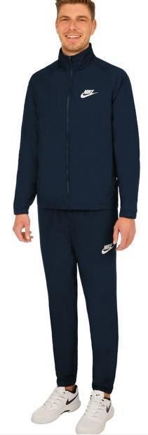 Костюм мужской Nike Sportswear Tracksuit dark blue/white