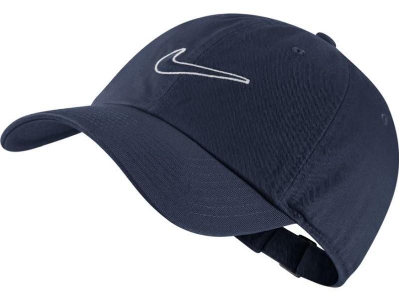 Теннисная кепка Nike H86 Essential Swoosh Cap obisidian/obsidian