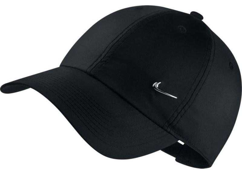 Теннисная кепка Nike H86 Metal Swoosh Cap black/metallic silver