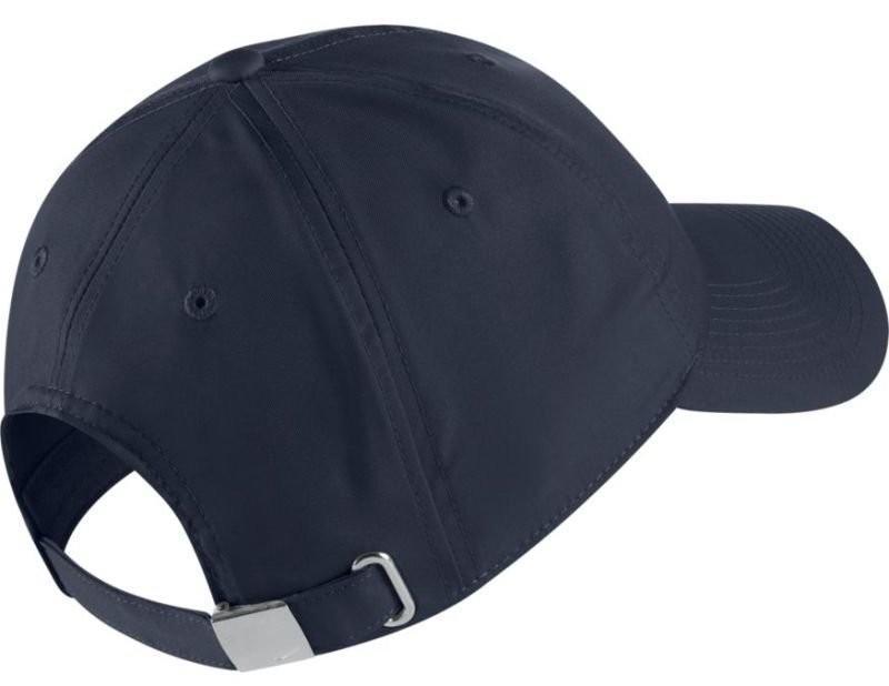 Теннисная кепка Nike H86 Metal Swoosh Cap obisidian/metallic silver