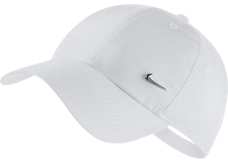 Теннисная кепка Nike H86 Metal Swoosh Cap white/metallic silver