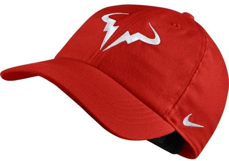 Теннисная кепка Nike Rafa U Aerobill H86 Cap habanero red/white