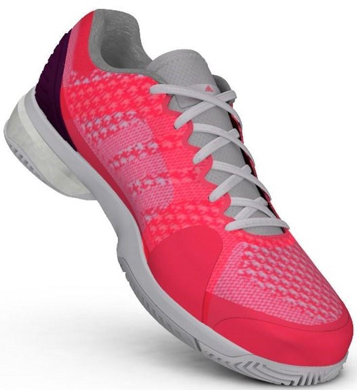 Теннисные кроссовки женские Adidas Stella McCartney Barricade Boost flash red/white/pop purple