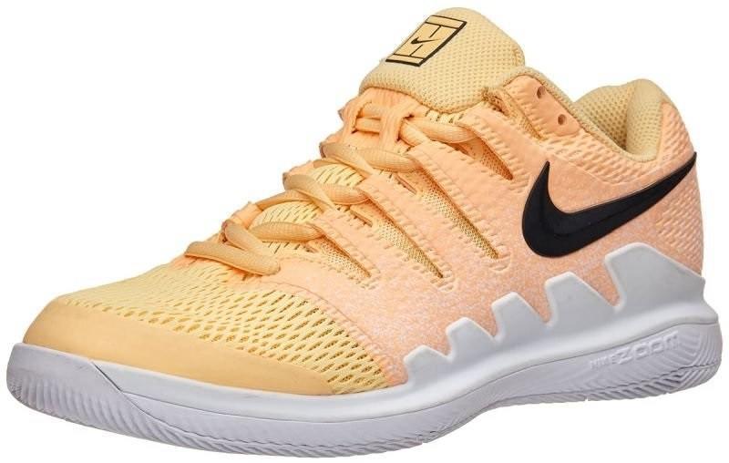 Теннисные кроссовки женские Nike WMNS Zoom Vapor 10 HC tangerine tint/anthracite