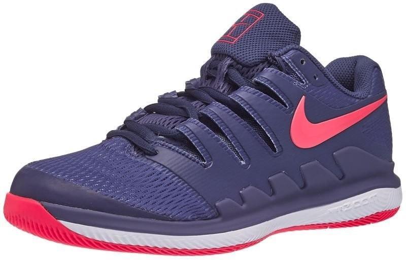 Теннисные кроссовки женские Nike WMNS Zoom Vapor 10 HC blue recall/racer pink/white