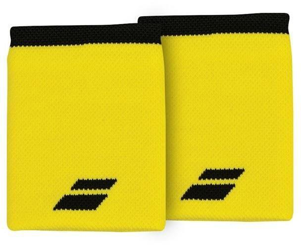 Напульсник Babolat Logo Jumbo Wristband blazing yellow/black