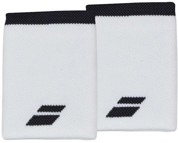 Напульсник Babolat Logo Jumbo Wristband white/rabbit