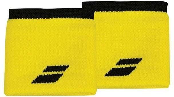 Напульсник Babolat Logo Wristband blazing yellow/black