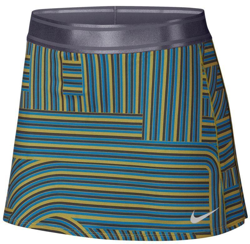 Теннисная юбка женская Nike Court Dry Skirt Printed peat moss