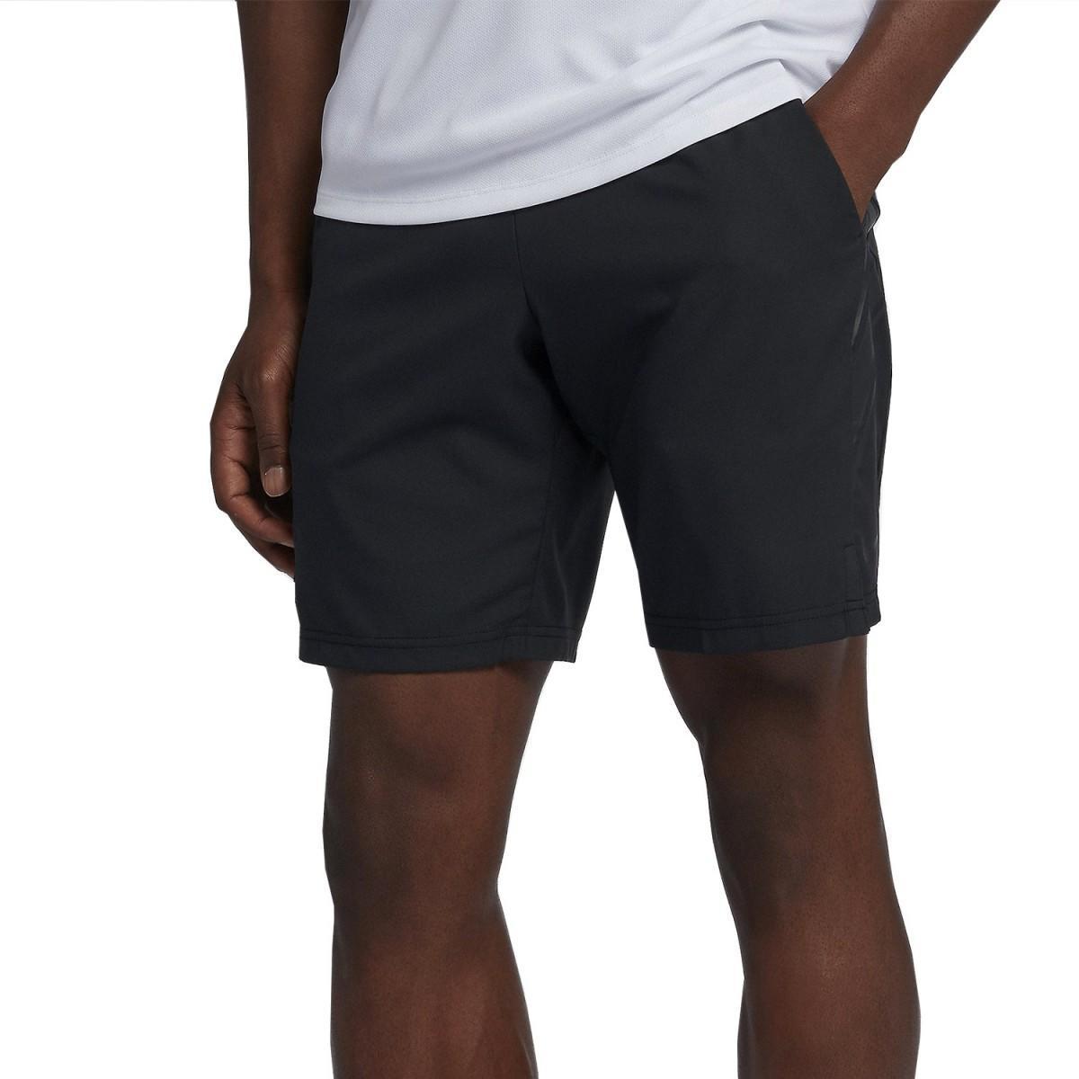 Теннисные шорты мужские Nike Court Dry 9in Short black/black