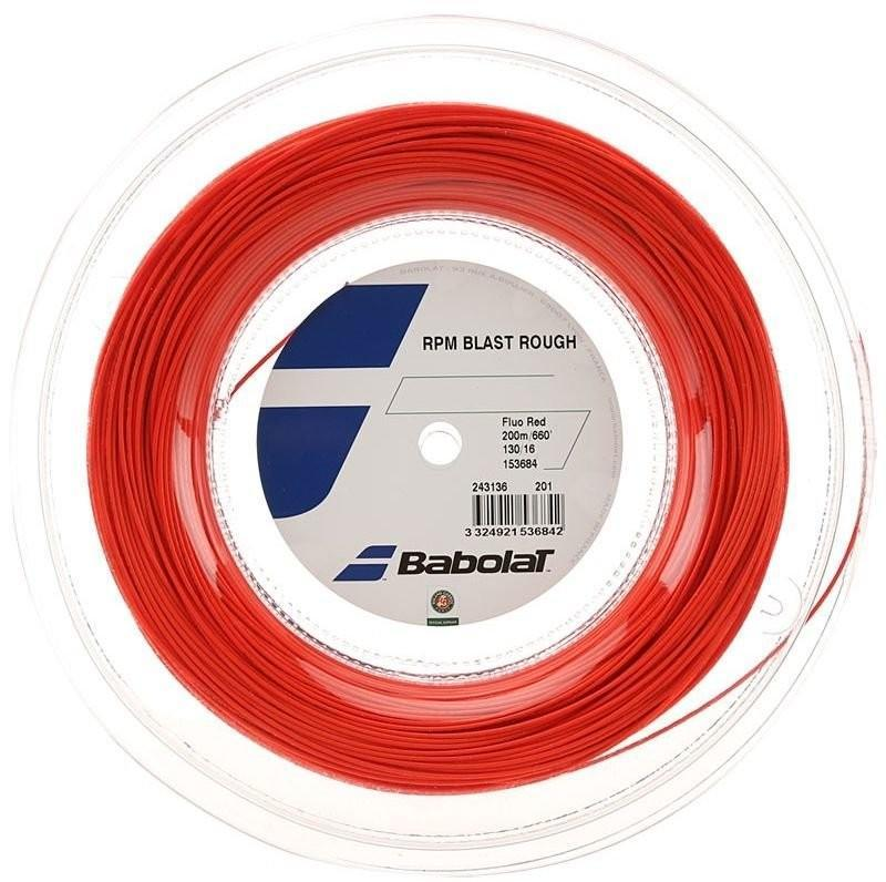 Струна Babolat RPM Blast Rough fluo red 12 m натяжка с бобины