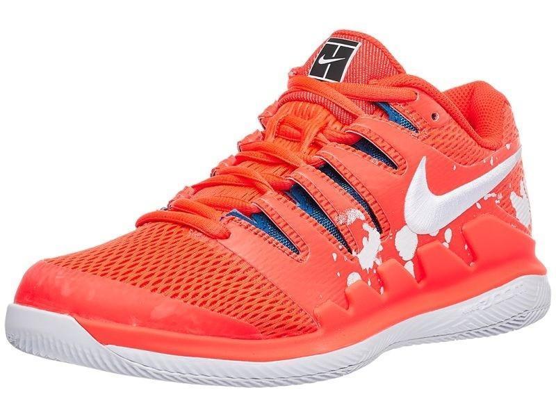 Теннисные кроссовки женские Nike WMNS Air Zoom Vapor X HC Premium bright  crimson white a19ddbc9e2d4d