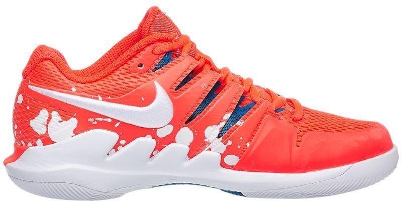 Теннисные кроссовки женские Nike WMNS Air Zoom Vapor X HC Premium bright crimson/white