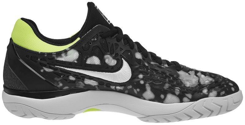 b1c38c578cb302 ... Тенісні кросівки чоловічі Nike Air Zoom Cage 3 HC Premium  blackwhitevolt glow ...