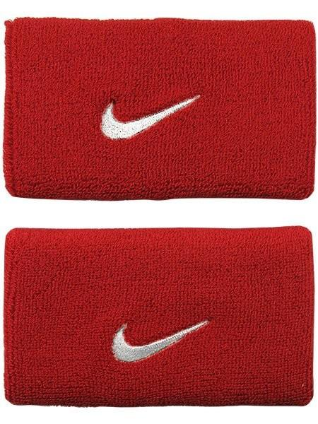Напульсник Nike Swoosh Double-Wide varsity red/white