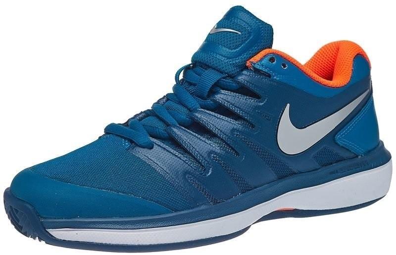 Дитячі тенісні кросівки Nike Air Zoom Prestige Грунт JR green abyss/metallic silver