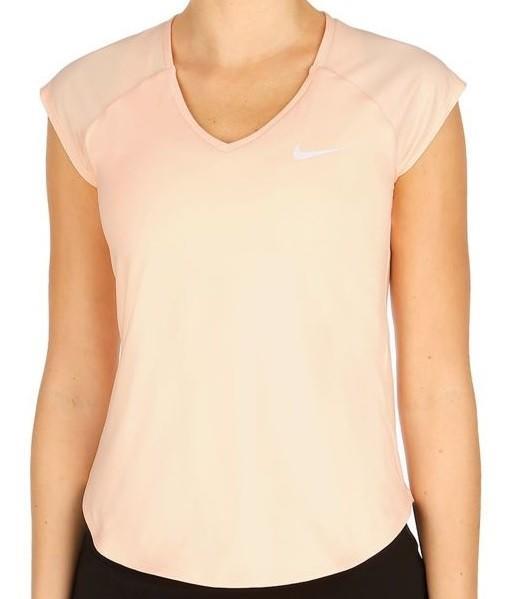 Теннисная футболка женская Nike Court W Pure Top crimson tint