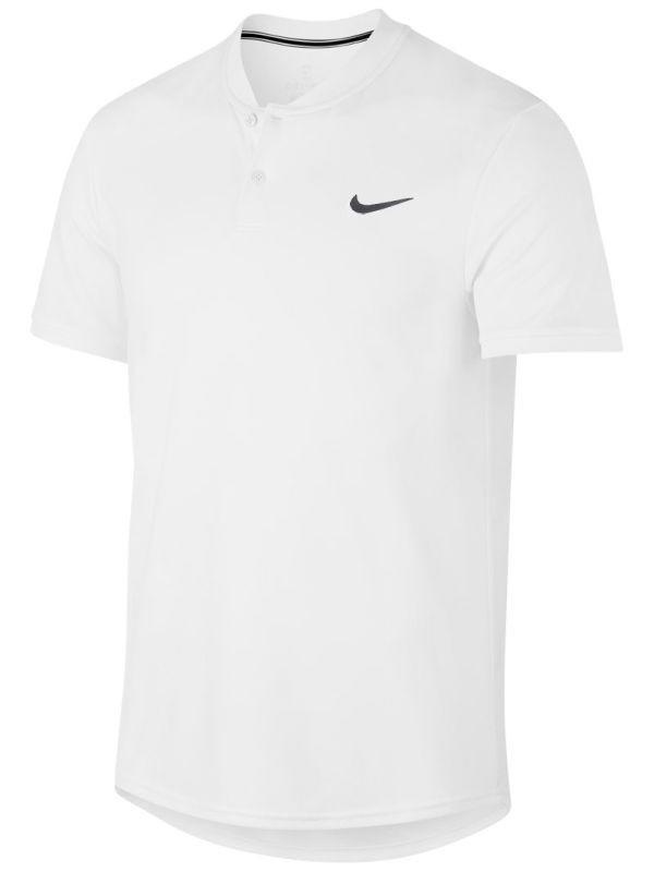 740d5dd1 Теннисная футболка мужская Nike Court Dry Blade Polo white/black ...