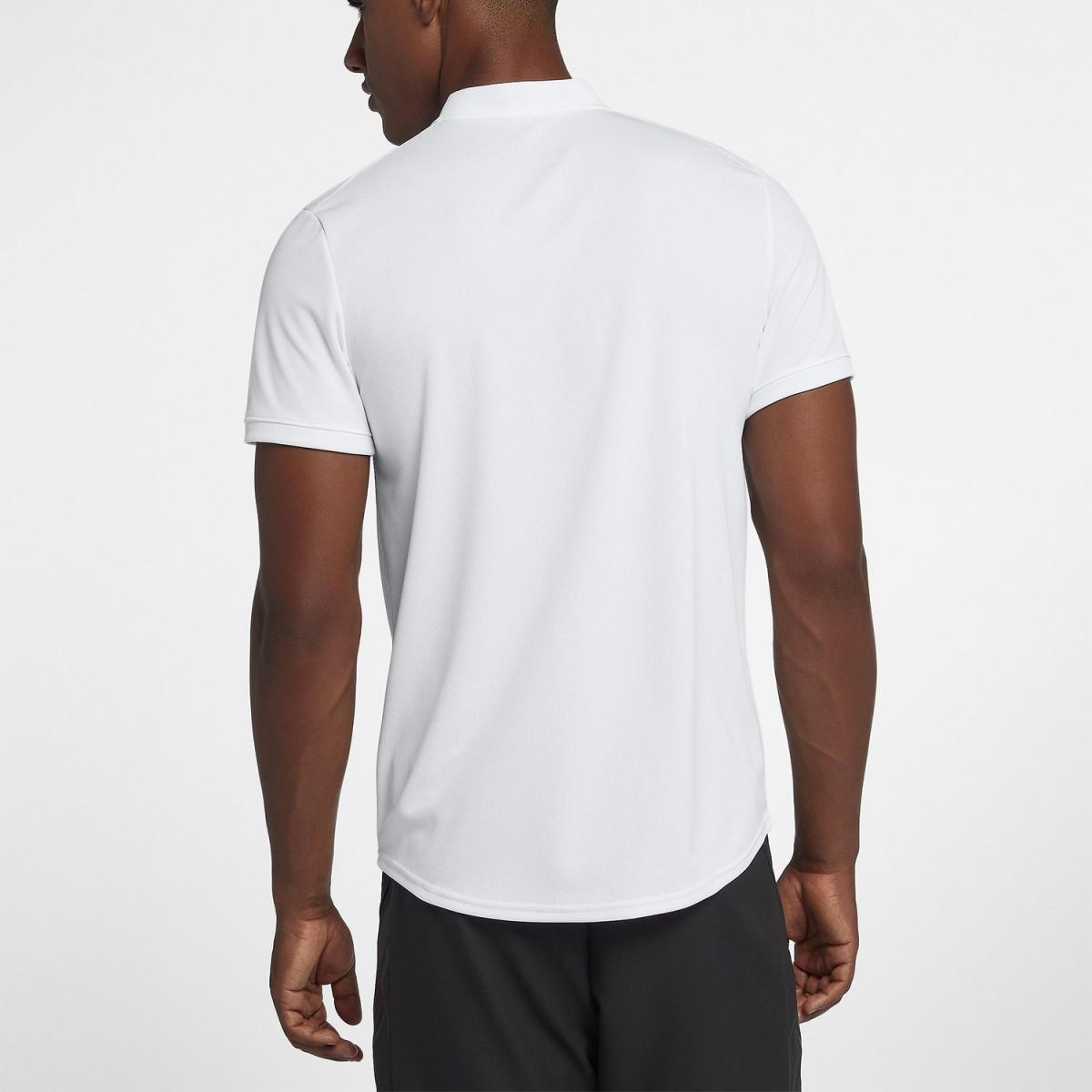 557f3851 ... Теннисная футболка мужская Nike Court Dry Blade Polo white/black ...