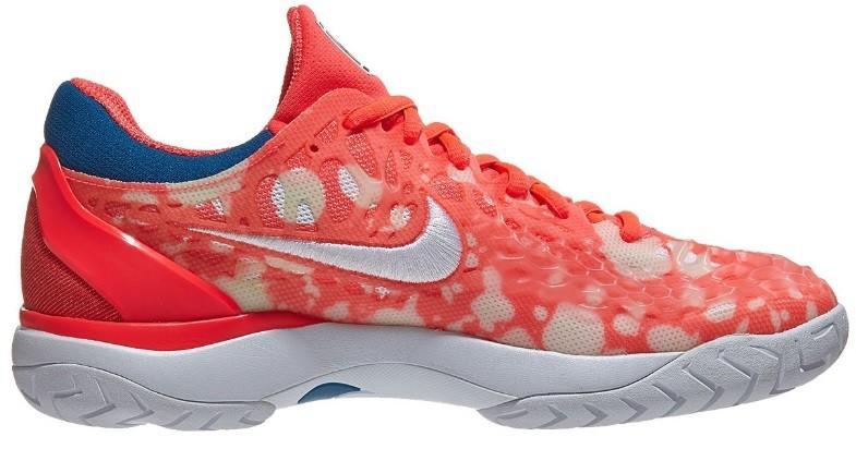 Теннисные кроссовки женские Nike WMNS Air Zoom Cage 3 HC Premium fluo coral/white