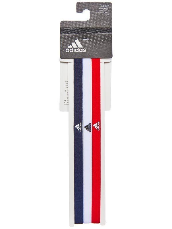 Резинка на голову Adidas Hairband 3PP legend ink/white/active red
