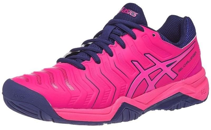 Теннисные кроссовки женские Asics Gel-Challenger 11 pink glo/blue print