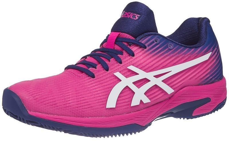 Теннисные кроссовки женские Asics Solution Speed FF ГРУНТ pink glo/white
