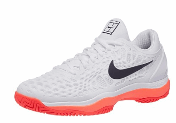 Теннисные кроссовки мужские Nike Air Zoom Cage 3 HC Limited Edition white/lava/black